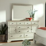 Yother 8 Drawer Combo Dresser with Mirror