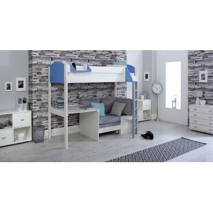 Trevino Single High Sleeper Loft Bed With Shelf And Desk By Isabelle & Max