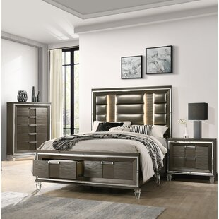 Gilmore Storage Platform 3 Piece Bedroom Set by Mercer41 Discount