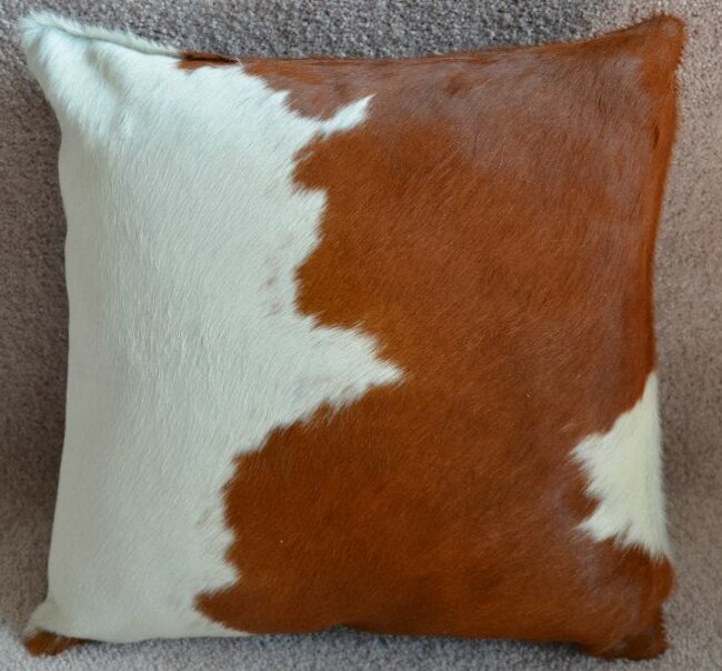 Pergamino Cowhide Throw Pillow Wayfair