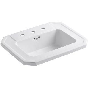 Kathryn® Ceramic Rectangular Drop-In Bathroom Sink with Overflow Kohler