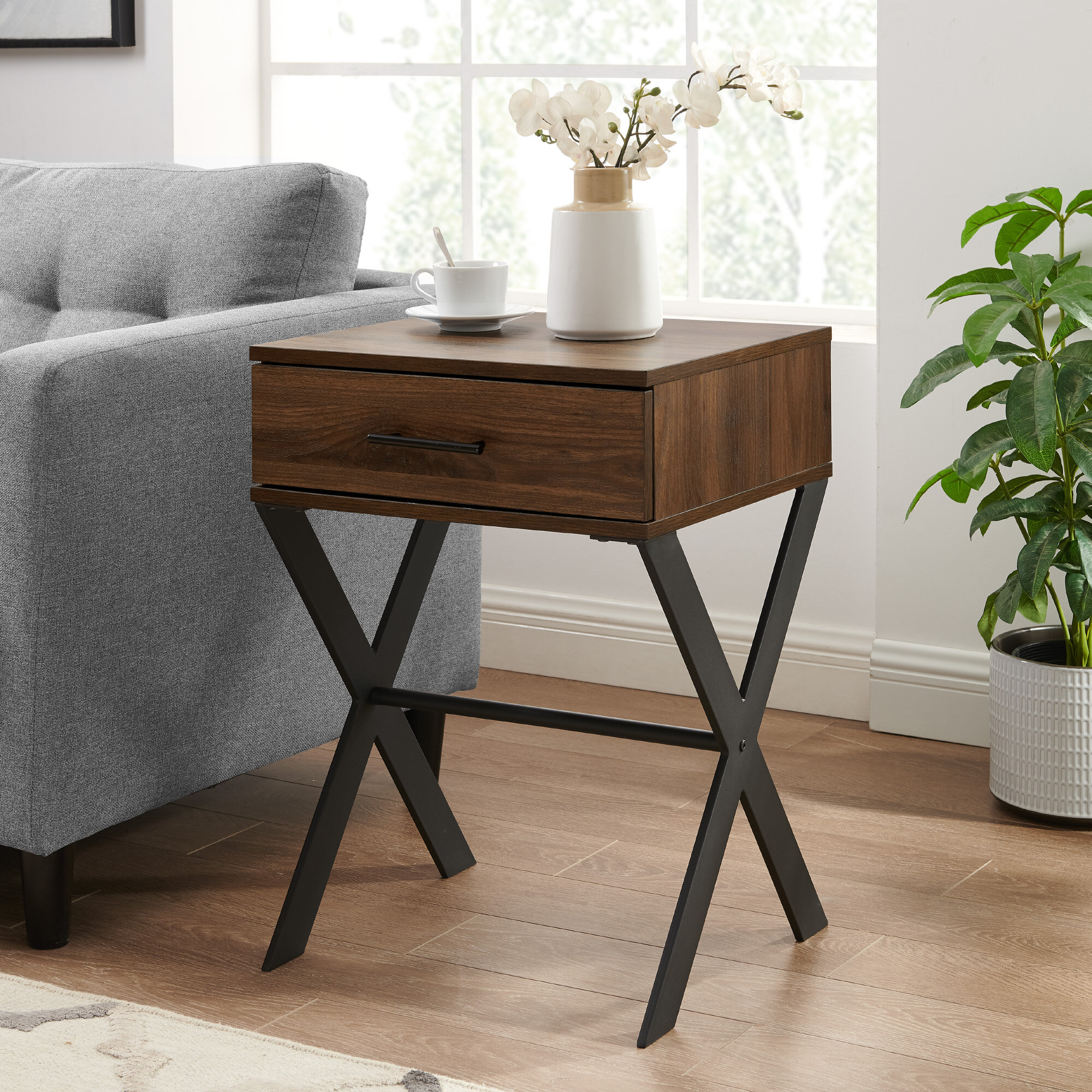 Gracie Oaks Neneh Cross Legs End Table Wayfair