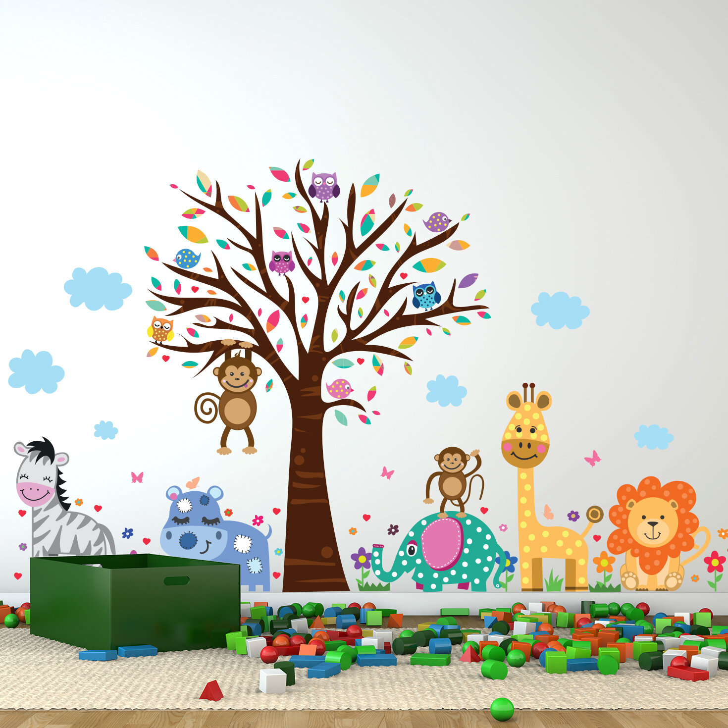 Delightful Happy London Zoo Wall Decal