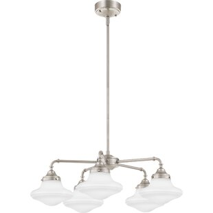 Ciaran 5-Light LED Shaded Chandelier by Andover Mills