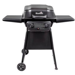 Tis the Season Classic 2-Burner Propane Gas Grill with Side Shelves Char-Broil