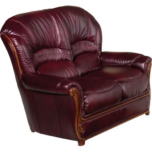 Fleur De Lis Living Leslie Leather Loveseat