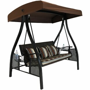 Sydnee Deluxe Wicker Garden Porch Swing with Stand