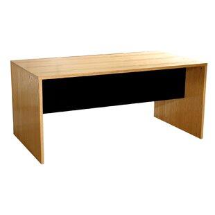 Modular Real Oak Wood Veneer Furniture Desk Shell by Rush Furniture