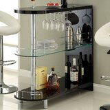 Holla Lacquer Bar with Wine Storage by Hokku Designs
