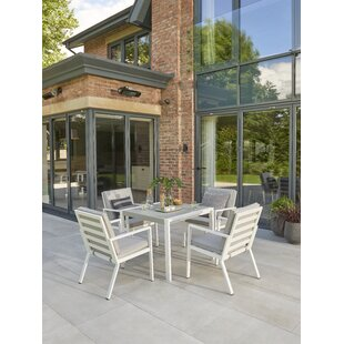 Wenzel 4 Seater Dining Set With Cushions By Sol 72 Outdoor