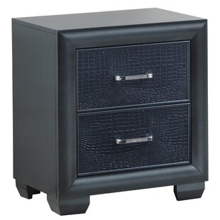 Best Aguilera 2 Drawer Nightstand By Everly Quinn