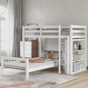 Tolland Twin over Twin Bunk Bed with Shelves
