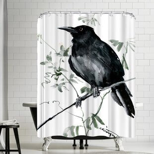 Suren Nersisyan Crow Single Shower Curtain
