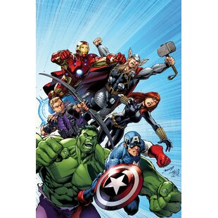 U0027Marvel Avengersu0027 By Marvel Comics Graphic Art On Wrapped Canvas