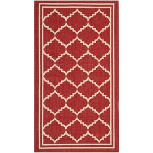 Inge Red Indoor/Outdoor Area Rug By Fairmont Park