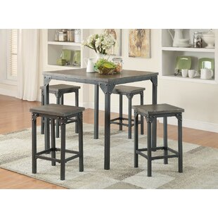 Gracie Oaks Browne 5 Piece Counter Height Dining Set