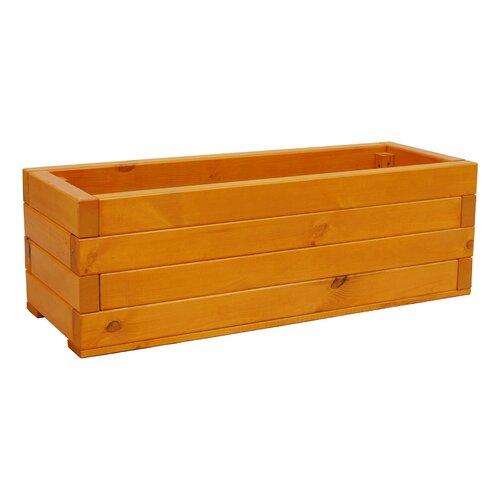 Trough Wooden Planter Box Freeport Park Size: 36.5 cm H x 18