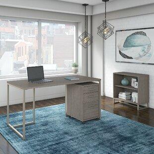 Kathy Ireland Office by Bush Method 3 Piece Rectangular Desk Office Suite