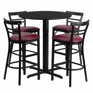 Red Barrel Studio Alvarez Modern Round Laminate 5 Piece Pub Table Set