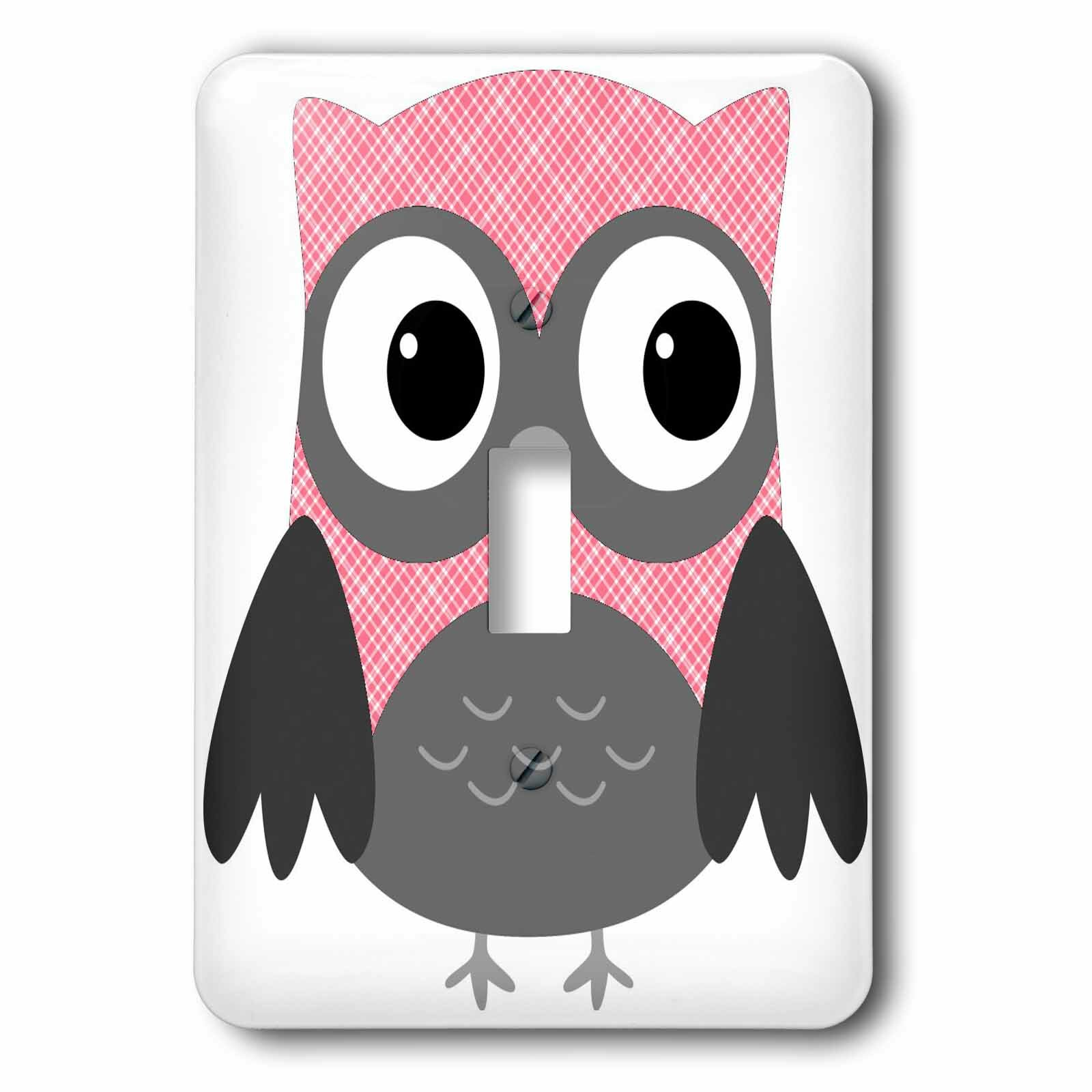 3drose Cute Plaid Owl 1 Gang Toggle Light Switch Wall Plate Wayfair