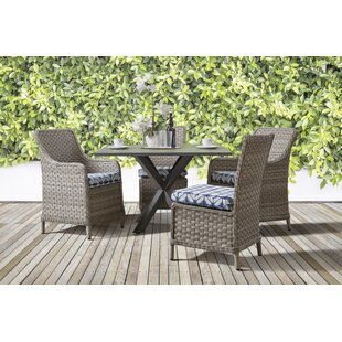 Doyle 5 Piece Sunbrella Patio Dining Set with Cushions by Rosecliff Heights