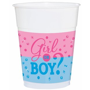 Girl or Boy? Baby Shower Reveal Plastic Disposable Every Day Cup (Set of 75)