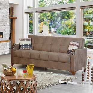Meaney Leather Sofa Bed