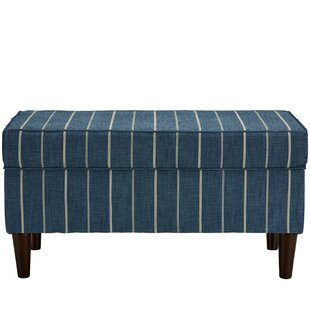 Breakwater Bay Evalyn Traditional Cotton Upholstered Storage Bench
