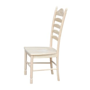 Capucine Solid Wood Dining Chair (Set of 2) August Grove