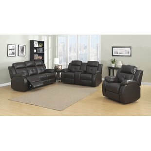 AC Pacific Troy Reclining 3 Piece Living Room Set