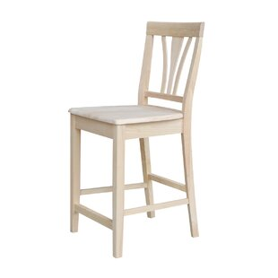 Unfinished 24 Bar Stool by International Concepts Best #1