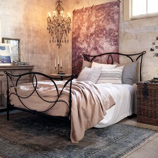 Design Tree Home Cursive Iron Four Poster Bed