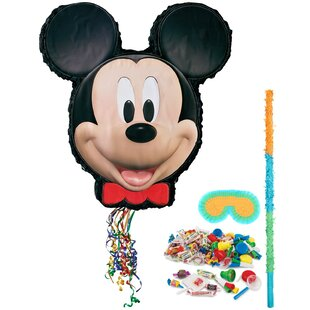Mickey Mouse Pinata Paper Disposable Decoration Kit Set (Set of 3)