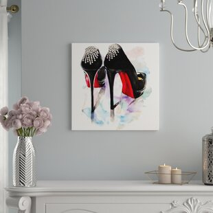 5256e6a5f70  Christian Louboutin Classic Heels  Painting on Wrapped Canvas