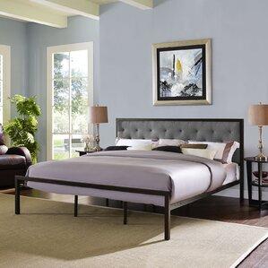 biondi upholstered platform bed - Padded Bed Frames