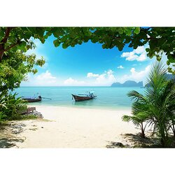 Wallpops phi phi island 12 39 x 100 wall mural reviews for El paradiso wall mural