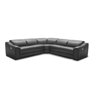 Ozzy Motion Leather Reclining Sectional by Orren Ellis Great price