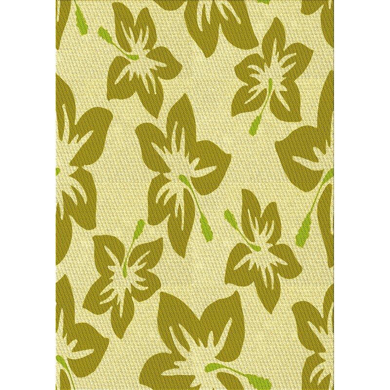East Urban Home Floral Wool Yellow Area Rug Wayfair