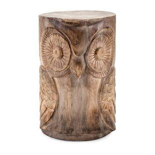 Houlihan Wooden Owl Garden Stool