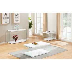 Grossi 3 Piece Coffee Table Set by Orren Ellis No Copoun