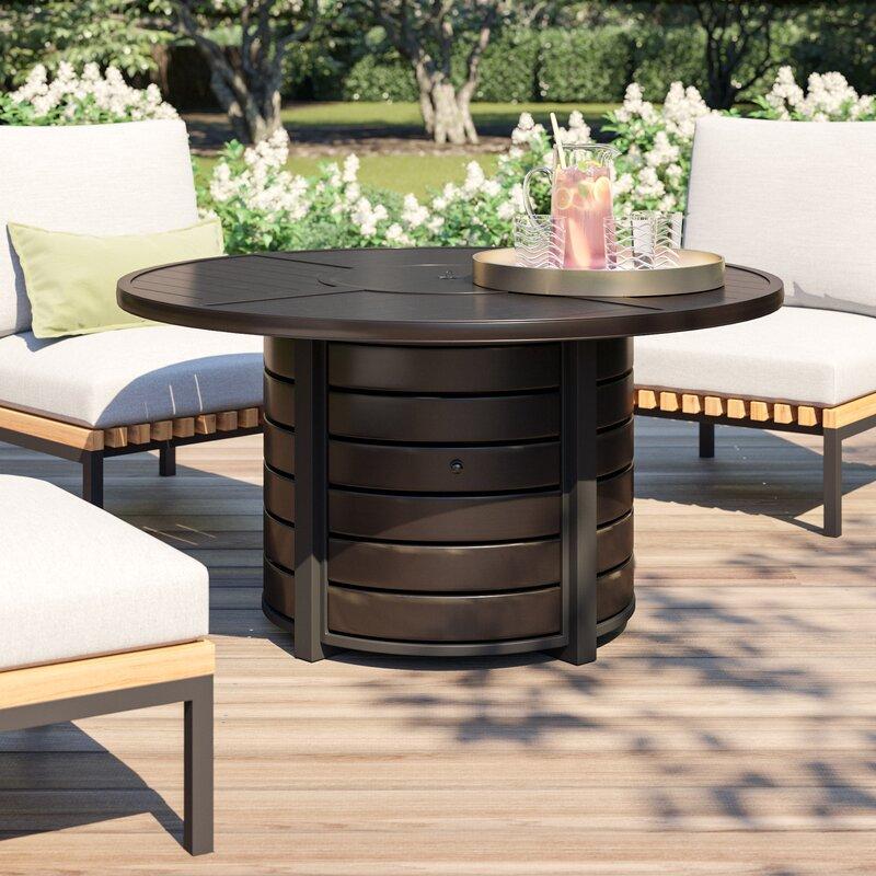 Schum Aluminum Propane Fire Pit Table
