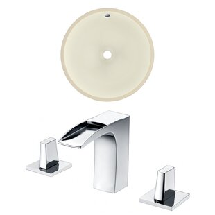 Best Deals Ceramic Circular Undermount Bathroom Sink with Faucet and Overflow ByRoyal Purple Bath Kitchen