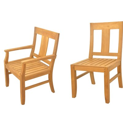Kevon 9 Piece Teak Dining Set by Rosecliff Heights #2