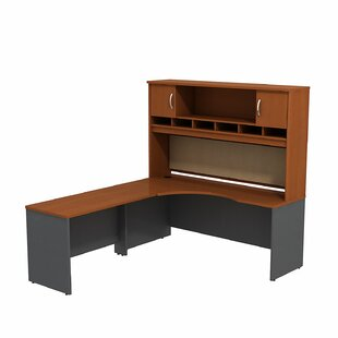 Bush Business Furniture Series C 2 Piece L-Shape Corner Desk with Hutch