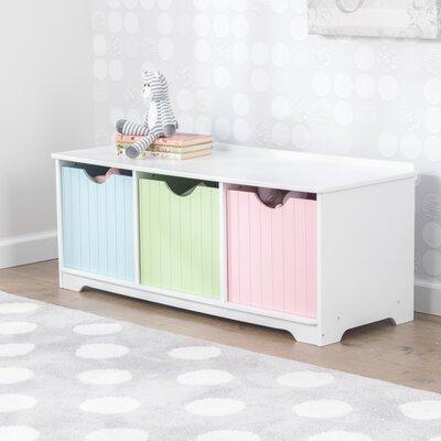 Excellent Kidkraft Nantucket Toy Storage Bench Finish Pastels Machost Co Dining Chair Design Ideas Machostcouk