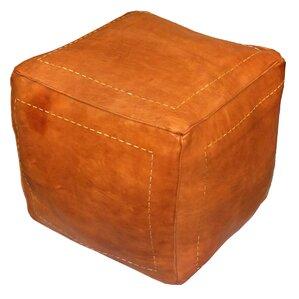 Carnuel Pouf Leather Ottoman by World ..