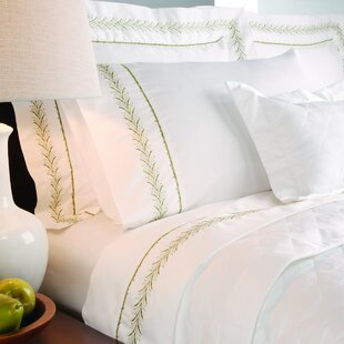 Annabelle 400 Thread Count Embroidered Sheet Set by Lark Manor Best Choices