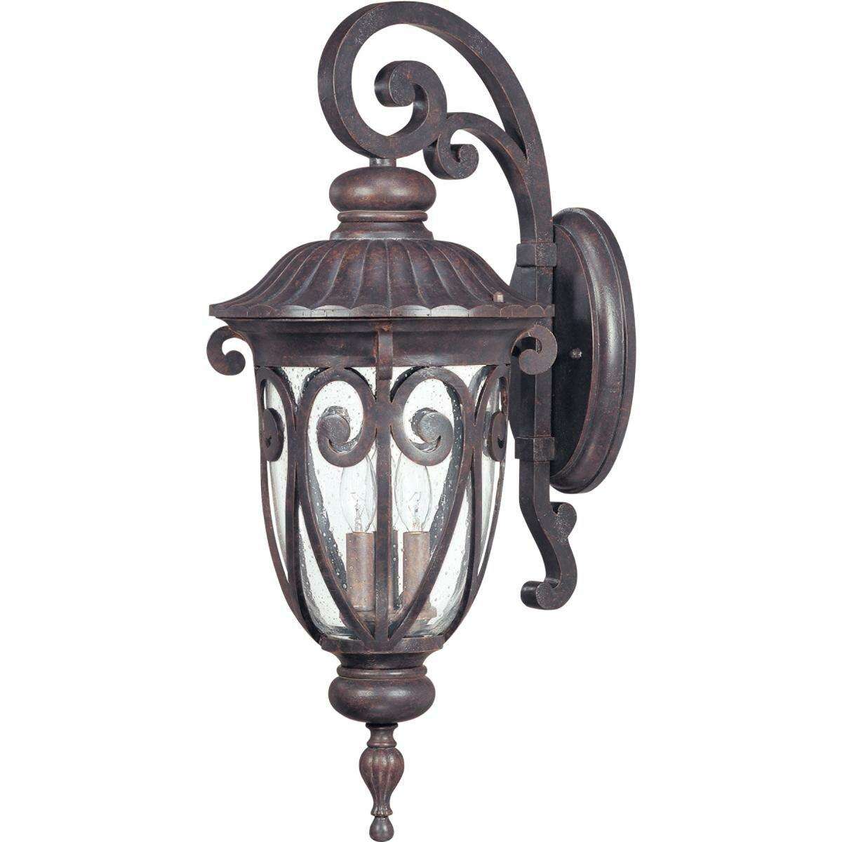 Astoria Grand Devlin 3 Bulb Outdoor Wall Lantern Wayfair