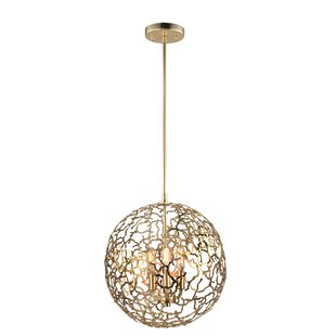 Inexpensive Aicha 3-Light Globe Chandelier By Everly Quinn