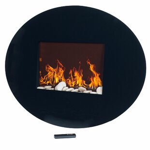 Oval Wall Mounted Electric Fireplace by Northwest